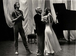 George Ballanchine rehearses