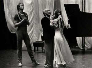 George Ballanchine rehearses