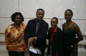 Regina Brooks, who is Marilyn Nelson's agent, Arthur Mitchell, founder of DTH, Andrea Davis Pinkney,our editor, and Endalyn Taylor, the director of DTH school