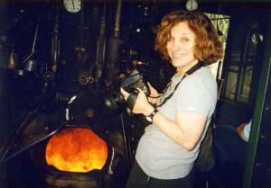 Susank Kuklin inside the fiery dragon